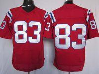 amerikanische rugby-fußball-trikots großhandel-2012 Elite American Football 83 rote Trikots Rugby Jersey Mix Reihenfolge