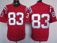 camisetas de elite americana al por mayor-Ordenador 2012 de la mezcla del jersey del rugbi de las élites americanas del fútbol americano 83 de la élite