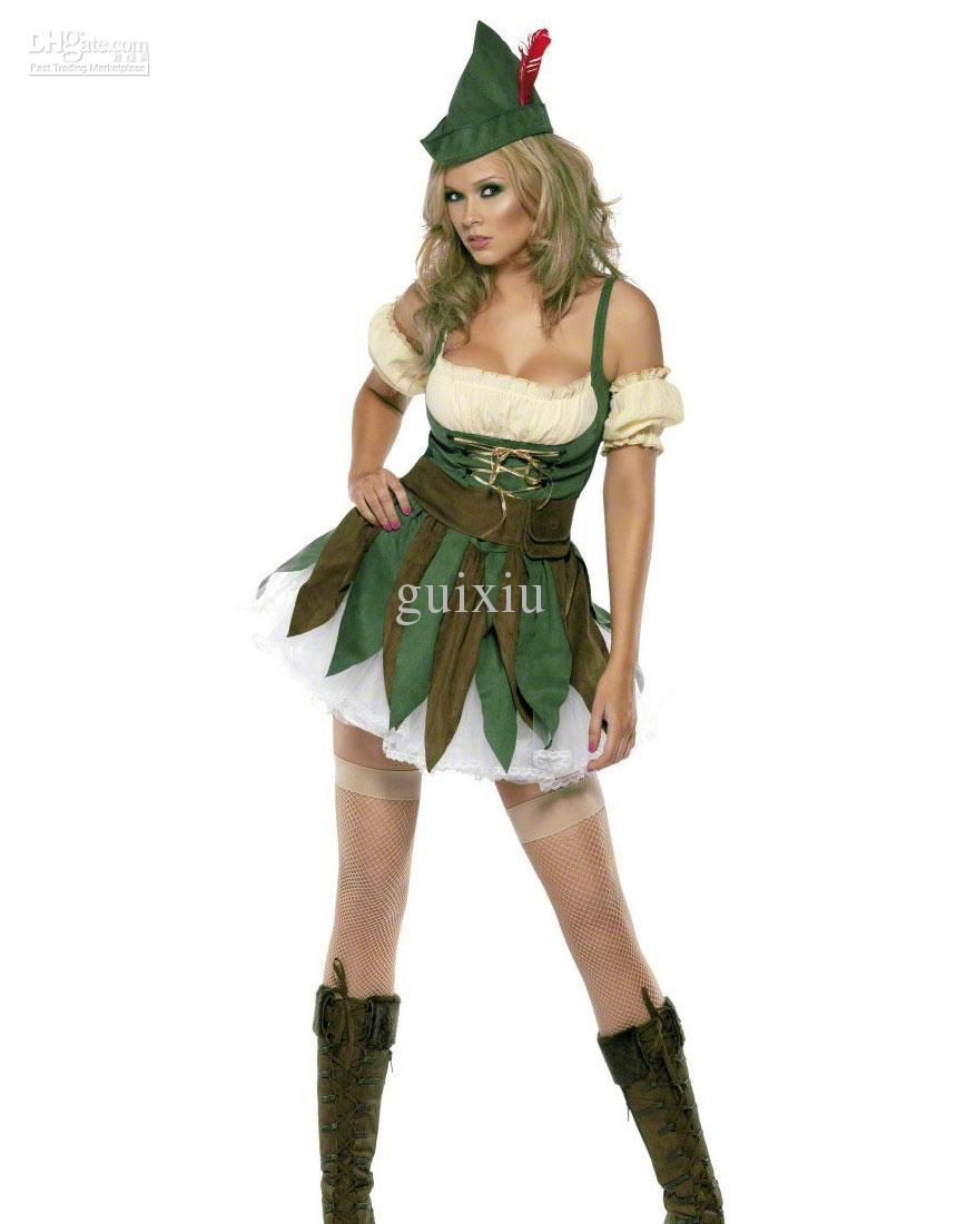Wholesale Sexy Women's Halloween Costume Feisty Outlaw Robin Hood Costume  H39173 Halloween Costumes For Groups Of 5 Fun Group Halloween Costumes From  Guixiu ... - Wholesale Sexy Women's Halloween Costume Feisty Outlaw Robin Hood