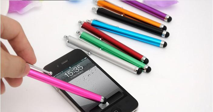 タブレットPCのための普遍的な静電容量のスタイラスのタッチペン500ピースのミックスカラーのためのタッチペン