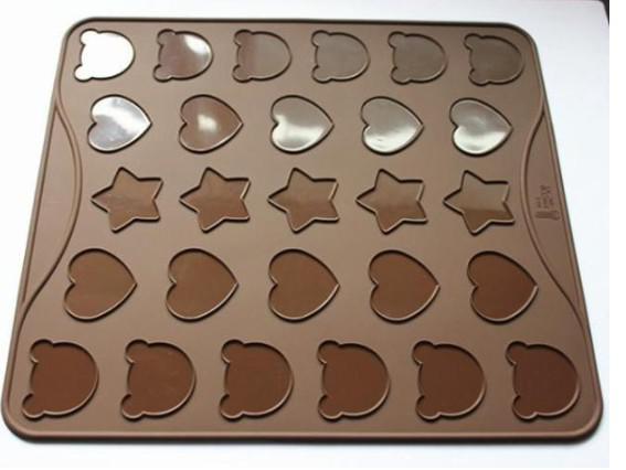 Tapis à pâtisserie en silicone spécial Macaron à 3 styles Tapis à cuisson en silicone Muffin / Dessert