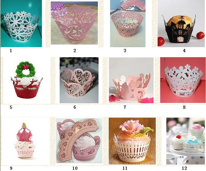 Cupcake Wrappers Wraps Liners For Weddings,Baby Showers,Christenings Party Favor