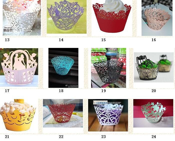 Kunstdocument Cup Cake Wrapper Cricut Lite Cupcake Wrappers Cartridge Kant voor Huwelijksfeest