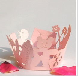 Wholesale Baby Cupcake Wrappers - Cupcake Wrappers Wraps Liners For Weddings,Baby Showers,Christenings Party Favor