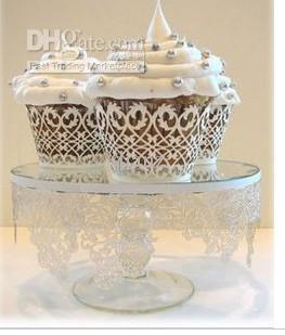 الفن ورقة كأس كعكة المجمع Cricut لايت مغلفة كبكك خرطوشة الدانتيل لحضور حفل زفاف