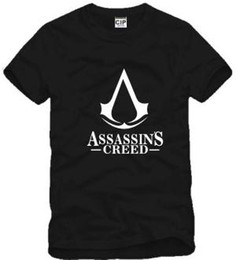 Assassins creed t shirts en Ligne-Livraison gratuite nouvelle vente ASSASSINS CREED T-SHIRT joueur credo assassin symbole T-shirt 100% coton 6 couleurs