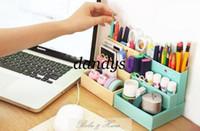 Wholesale Korea Diy Box - Free Shipping DIY PAPER Mini cafe Storage Foldable Box Colour Multifunction Box in Box Fashion Korea table Storage box