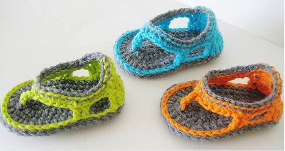 Großhandel 15% Rabatt! Crochet Schuhe Sandalen / Kleinkind Schuhe ...