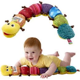 Музыкальные Плюшевые Мягкие Игрушки Inchworm Обучающие Детские Игрушки для Ребенка Перевозка Груза Падения от Поставщики образовательный английский планшет
