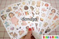 Wholesale Deco Paper Vintage - Free Shipping   NEW 6 pcs pack vintage doll ver.2 deco paper sticker   Decoration label   Wholesale