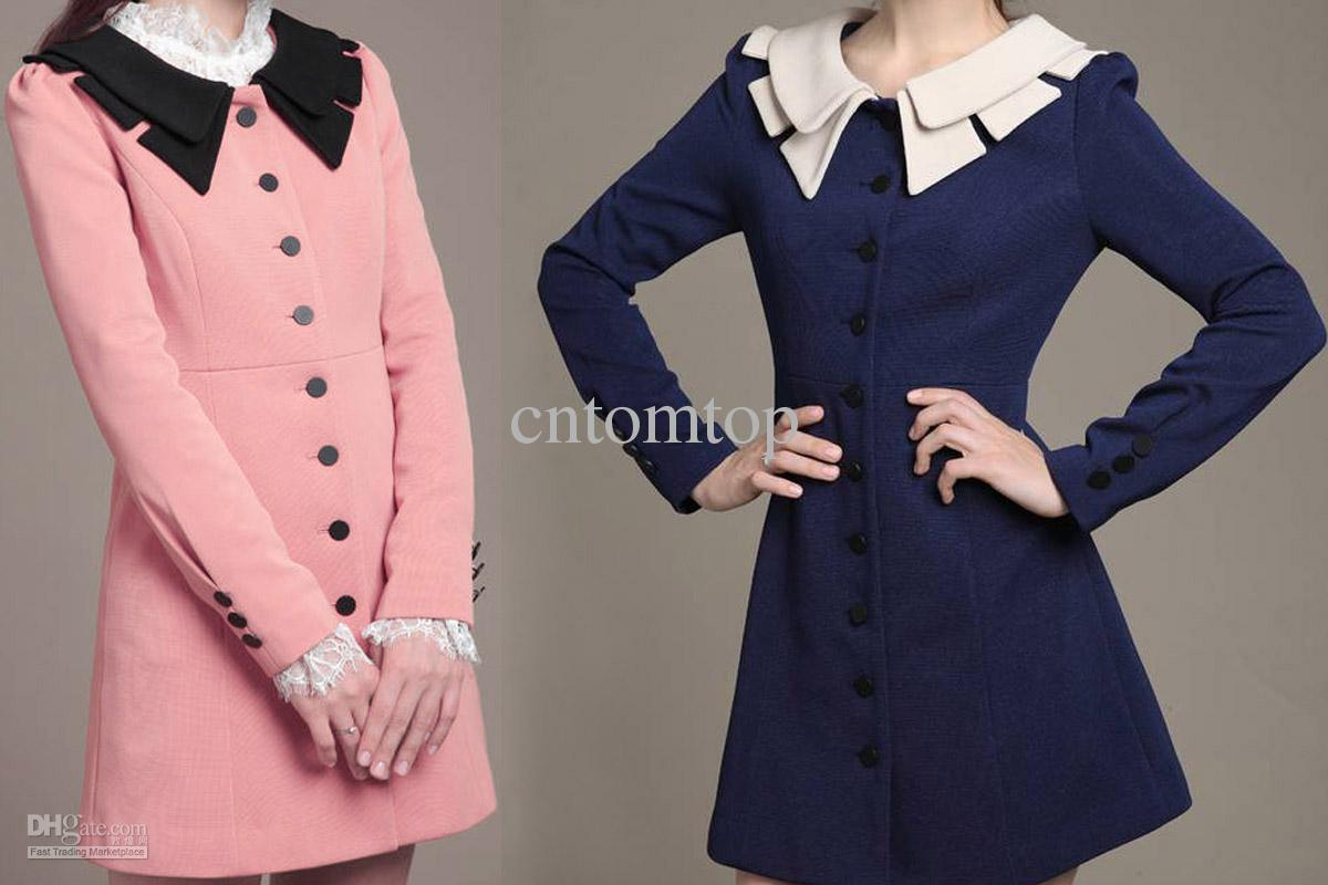 Becco Serafino falso  2020 Promotion!! New Vintage Retro Autumn Womens Dress Trench Coat Slim  Coral Outerwear G0042 From Cntomtop, $19.41 | DHgate.Com