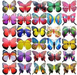 Wholesale simulation animal toys - Wholesale 1000pcs lot Simulation butterfly fridge magnet , fridge magnets , decoration magnets Toys