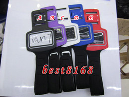 Wholesale Jacket Bands - Protector Black Sport Running GYM Arm Band Soft For Apple Ipod nano 7 nano7 Armband PU Leather Jacket Pouch case strap skin cellphone luxury