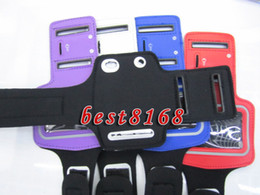 Wholesale Protector Black Sport Running GYM Arm Band Soft For Ipod nano Armband Leather Jacket case strap skin cell phone cover luxury Pouch