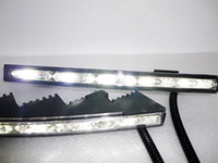 Wholesale Land Cruiser Led Drl - 1pair set Super Bright CREE daytime running lights LED DRL at fog lamp cover for Toyota 2010~2012 LAND CRUISER, free shipping