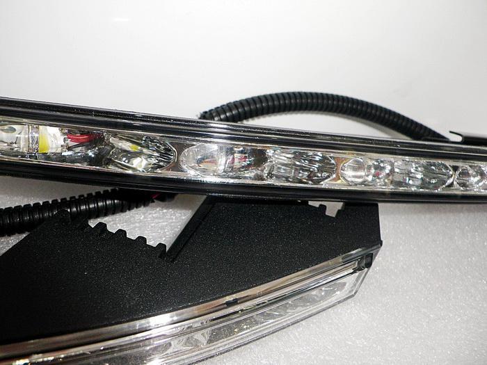/ Set Super Bright LED DayTime Running Lights LED DRL för Toyota Land Cruiser, 6000K Vit LED Front Bumper DRL