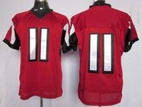 Wholesale Elite American Football - 2012 Elite American Football All Team 11 Red Jerseys Rugby All Team Jersey Mix Order