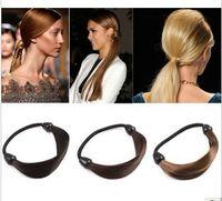 Wholesale Hair Rope Synthetic Fiber - 20 pcs new Synthetic Fiber hairpeice Ponytail Elastic Hair Rope Holers Hairband hair rings