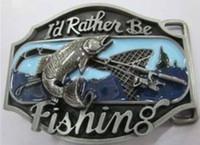 Wholesale Fishing Belt Buckle - Fish belt buckle SW-B37 Wholesale brand new belt buckle 1 lot MOQ free shipping