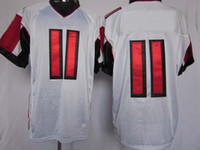 Wholesale Cotton Football Jerseys Wholesale - NEW Football Jerseys All Team Elite American Football 11 White Jerseys Rugby Jersey Mix Order