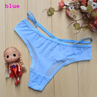 Wholesale Thong Outlets - Factory-outlet Wholesale 100pcs women's Diamond Briefs Panties G-string Thongs Mix Order 218# sxy underpants free shipping