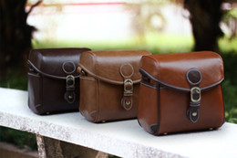 Wholesale Dslr Leather - D3200 550D D3100 KR 650D Leather fashion DSLR camera bag