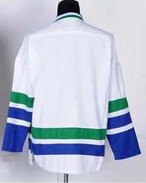 Wholesale Wholesale Blank Football Jersey - Vancouver Hockey Jerseys Jersey Winter Sports Wear Blank jerseys Blue Men jersey Football 48-56