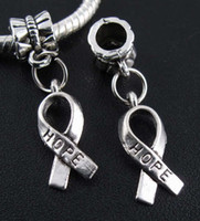 Wholesale Hope Bracelet Connectors - 75 Pcs Tibetan Silver Hope Charms Bead Fit Bracelet 28*7mm (00958)