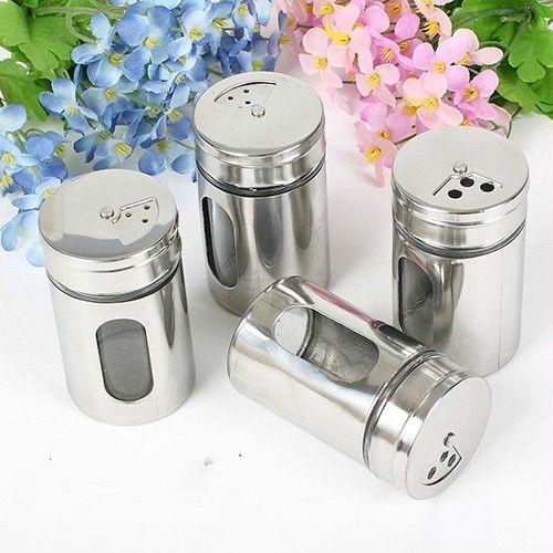 Best Kitchen Spice Jar Sugar Flour Salt Pepper Shaker Powder Storage Glass  Bottle Lid Under $26.06 | Dhgate.Com