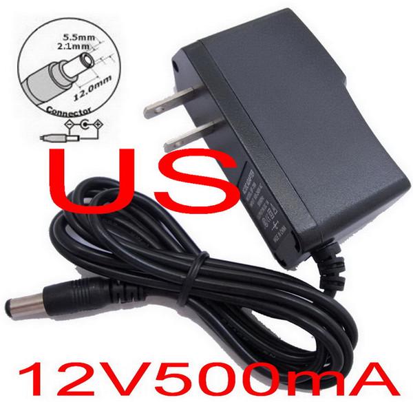 AC 100V-240V Converter Adapter DC 12V 0.5A / 500mA Power Supply For CCTV 100% New + Free shipping