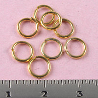 Wholesale Gold Tone Jump Rings - 500pcs gold-tone 6mm Jewelry open Jump Rings H0722