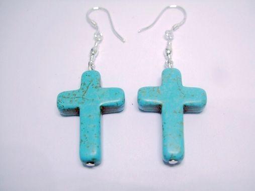 Elegante bedelstijl Tuquoise Bead Dangle Hook Earring.sets-O54
