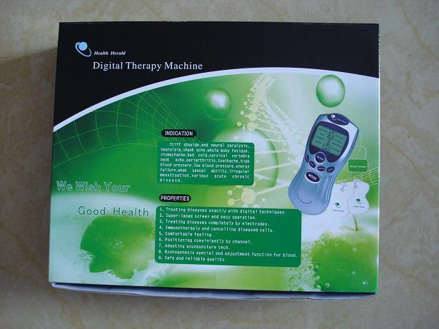 Bra! LCD Tens Acupuncture Digital Therapy Machine Massager Smärta Terapi +4 Pads + 4-vägs ledningar 60st / lo
