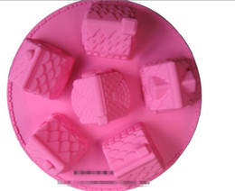Wholesale Silicone House Mould - 6 Small House Molds Cake Mold Cake Mould Baking Mould Silicone