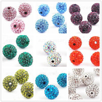 Wholesale Cheap Music Necklace - Cheap! free shipping 450pcs lot 9 Mixed Color Each Color 50 Piece 10mm Micro Pave CZ Disco Ball Crystal Bead .Fit Bracelet Necklace.