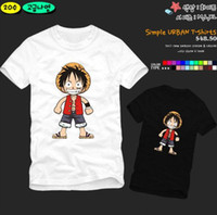 Wholesale Monkey D Luffy T Shirts - Free shipping new arrival japanese Anime one piece luffy T-shirt Japan anime one piece with Monkey D. Luffy 100% cotton 6 color