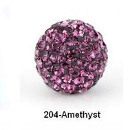 Wholesale Crystal Disco Bead Balls - Free shipping Purple 10mm Micro 3k2j Pave CZ Disco Ball Crystal Bead.Best bead jewelry.