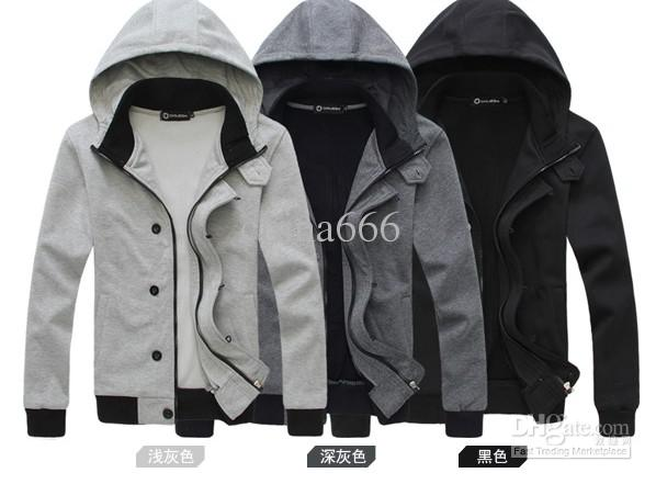 The New Fashion For Men Hooded Cardigan Jacket Korean Thin Fall Of ...