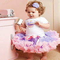 Wholesale fluffy skirts - mixing color kids tutu dress girl's skirt girl's pettiskirt girl's tutu fluffy skirts 5p l