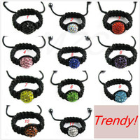 Wholesale Cheap Wholesale Gemstone Rings - Cheap 11 Mixed Color 50pcs lot 10mm or 12mm Trendy Clay Crystal Rings Lot. Free shipping Gemstone.