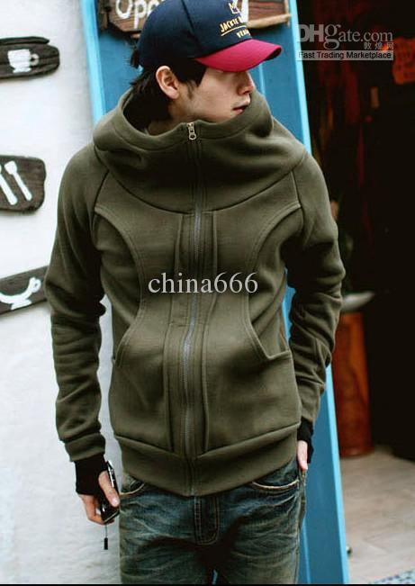 Korean Tide Mens Hooded Men's Sweater And Cashmere Cardigan ...
