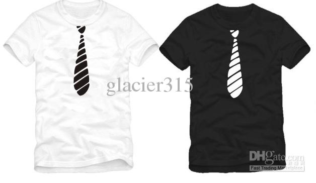 New Arrival Funny T Shirt Big Tie Print T Shirt Hip Hop T Shirt ...
