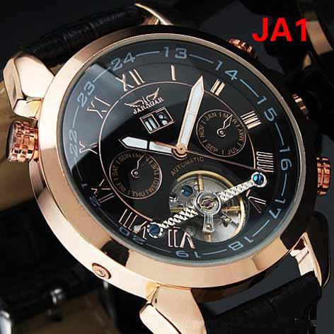 Jaragar Black Face Rose Gold Watch Luxury Swiss Men ...