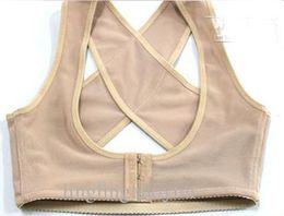 Busto de mama empurrar para cima body shaper sutiã + suporte de volta posture corrector banda posture corrector de Fornecedores de slim fit tank tops men