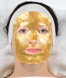 Wholesale Wholesale Gel Face Mask - Popular hot Collagen Gel Face Mask contains Hylauronic Acid- 24K Gold & d Silk