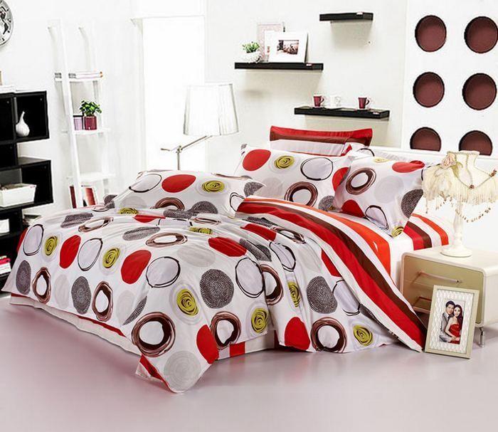 Matrimonio Bed Cover : Round modern pattern bedding set duvet cover queen king