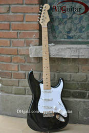 Wholesale Electric Guitar Clapton - HOT SALE black st Eric Clapton Signature Maple fingerboard electric guitar