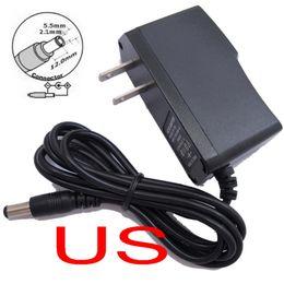 Netzteil dc-adapter 12v 1a online-10 STÜCKE AC 100 V-240 V Konverter Adapter DC 12 V 1A / 9 V 1A / 5 V 2A / 12 V 500 mA Stromversorgung US stecker (50 STÜCKE 100 STÜCKE freies Express verschiffen)