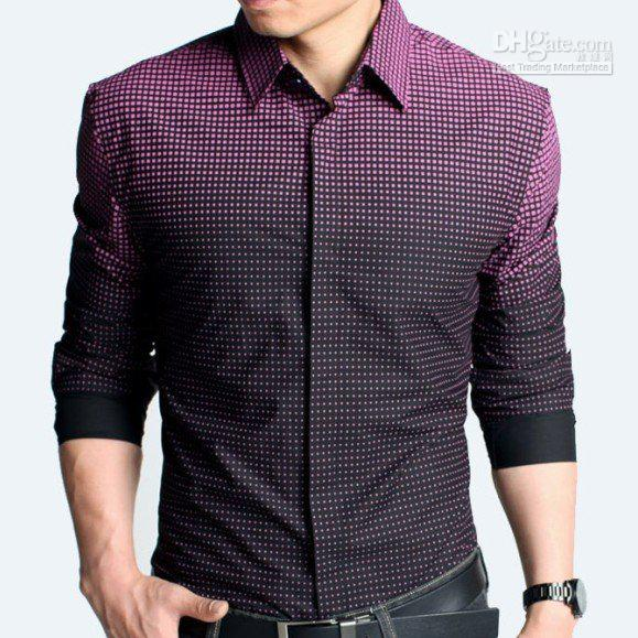 Online Cheap Fashion Color Changing Shirt, Man's Casual Shirt,Good ...