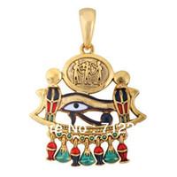 Wholesale Gold Cobra Pendant - free shipping Gold cobra,eye of horus religious necklace pendant